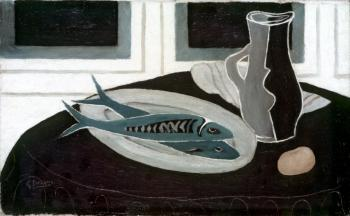 Georges Braque : Bottle and Fish
