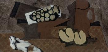 Georges Braque : Still life with brown jug