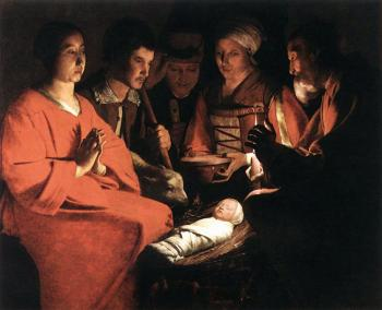 Georges De La Tour : Adoration of the Shepherds