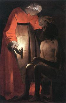 Georges De La Tour : Job Mocked by his Wife