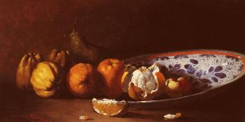 Germain Theodure Clement Ribot : Clement Nature Morte Aux Fruits