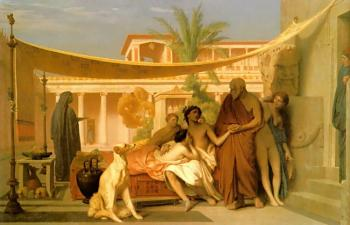 Socrates seeking Alcibiades in the House of Aspasia