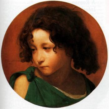 Jean-Leon Gerome : Portrait of a Young Boy
