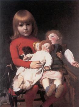 Jean-Leon Gerome : Madeleine Juliette Gerome and Her Dolls