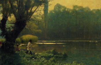 Jean-Leon Gerome : Summer Afternoon on a Lake