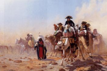 Jean-Leon Gerome : General Bonaparte with his Military Staff in Egypt II