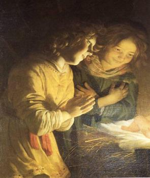 Gerrit Van Honthorst : Adoration Of The Child