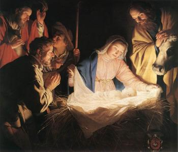 Gerrit Van Honthorst : Adoration Of The Shepherds