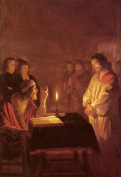 Gerrit Van Honthorst : Christ Before the High Priest