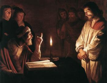 Gerrit Van Honthorst : Christ before the High Priest II