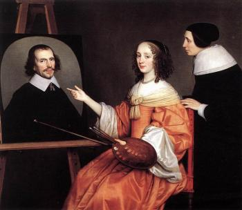 Gerrit Van Honthorst : Margareta Maria De Roodere And Her Parents