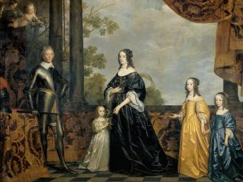 Gerrit Van Honthorst : Frederick Hendrick, Prince of Orange, with His Wife Amalia van Solms and Their Three Youngest Daughters
