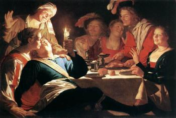 Gerrit Van Honthorst : The Prodigal Son