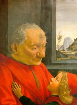 Domenico Ghirlandaio : An Old Man and His Grandson