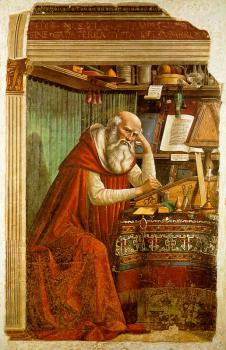 Domenico Ghirlandaio : St Jerome in his Study