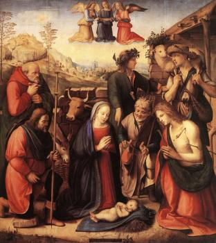 Ridolfo Ghirlandaio : Adoration of the Shepherds