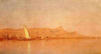 Sanford Robinson Gifford : On the Nile, Gebel Shekh Hereedee