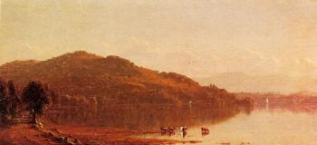 Sanford Robinson Gifford : The Catskills from Hudson