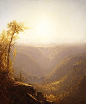 Sanford Robinson Gifford : A Gorge In The Mountains