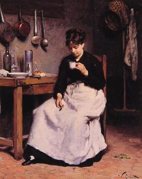 Victor Gabriel Gilbert : A Cup of Coffee
