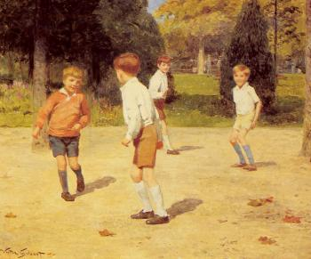 Victor Gabriel Gilbert : Boys Playing