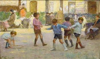 Victor Gabriel Gilbert : Children at Play