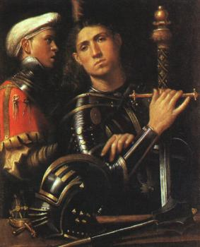 Giorgione : Portrait of Warrior with his Equerry