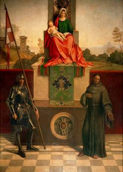 Giorgione : Madonna Enthroned with the Child between St Francis and St