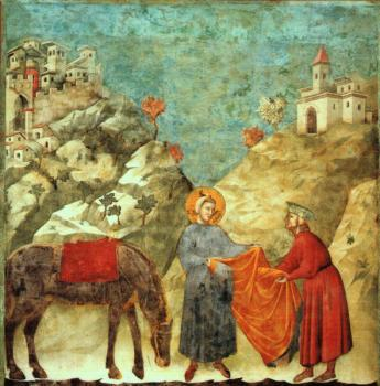 Giotto : Saint Francis Giving his Mantle to a Poor Man