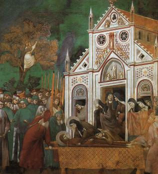 Giotto : St.Francis Mourned by St.Clare
