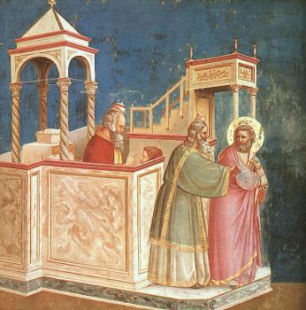 Giotto : Expulsion of Joachim from the Temple Scenes from the Life of Joachim