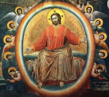 Giotto : The Last Judgment Detail of Jesus