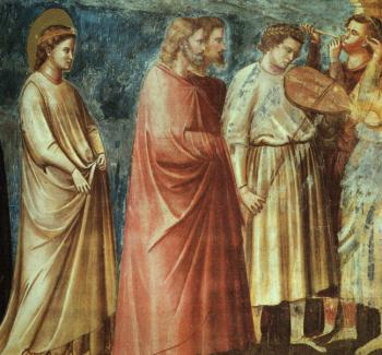 Giotto : The Meeting at the Golden Gate Scenes from the Life of the Virgin
