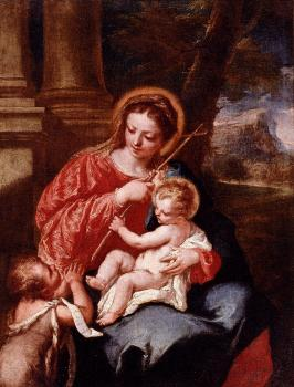 Antonio Madonna And Child With Sain John The Baptist