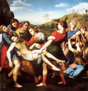 Giovanni Battista Salvi Da Sassoferrato : The Entombment