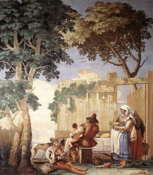 Giovanni Domenico Tiepolo : Family Meal
