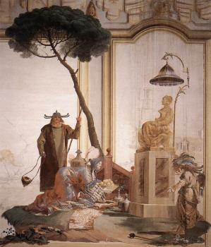 Giovanni Domenico Tiepolo : Offering Of Fruits To Moon Goddess
