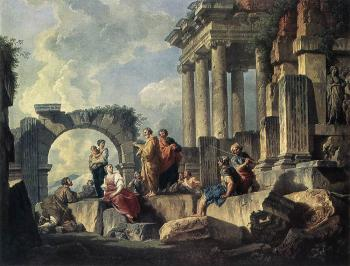 Giovanni Paolo Pannini : Apostle Paul Preaching On The Ruins