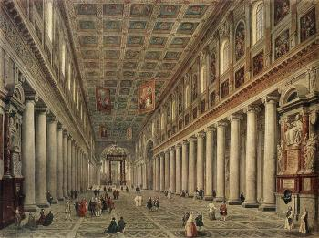 Interior Of The Santa Maria Maggiore In Rome