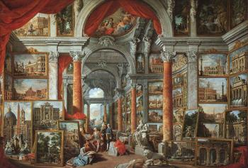 Giovanni Paolo Pannini : Picture Gallery With Views Of Modern Rome