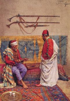 Giulio Rosati : A Game of Backgammon