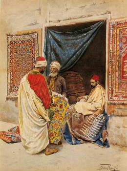 Giulio Rosati : The Carpet Merchant