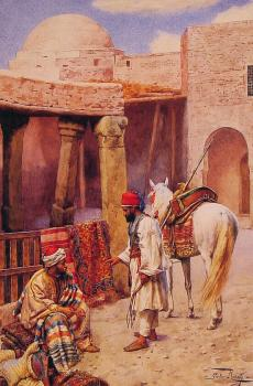 Giulio Rosati : The Carpet Seller