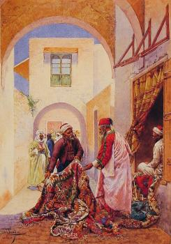 Giulio Rosati : The Carpet Sellers
