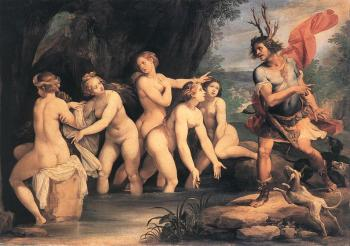 Giuseppe Cesari : Diana And Actaeon