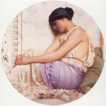John William Godward : A Grecian Girl