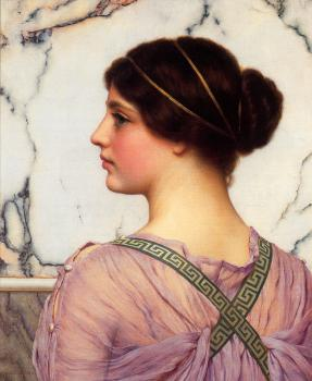 John William Godward : A Grecian Lovely
