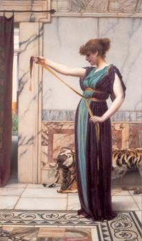 John William Godward : A Pompeian Lady
