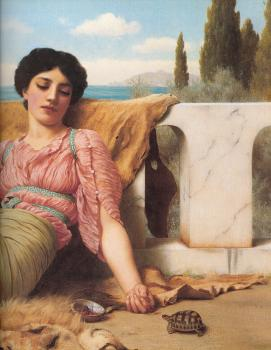 John William Godward : A Quiet Pet