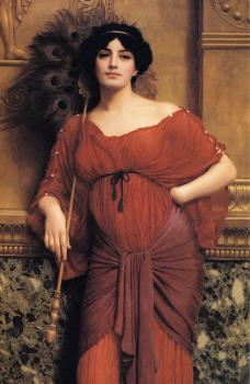 John William Godward : A Roman Matron